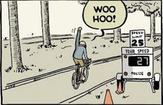 Speeding on a bicycle #bicyclehumor omg this is so me!!!!!