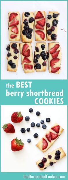 The best berry shortbread cookies ever great summer dessert