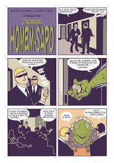 """""""O Inominável Homem-sapo"""" (with Pedro Cruz) page #1"""