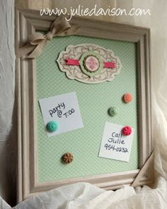 Julie's Stamping Spot -- Stampin' Up! Project Ideas Posted Daily: VIDEO: Magnetic Memo Board + Another TV Appearance
