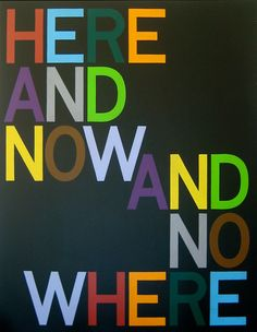 Tauba Auerbach,Here and Now/And Nowhere (Anagram IX), 2008