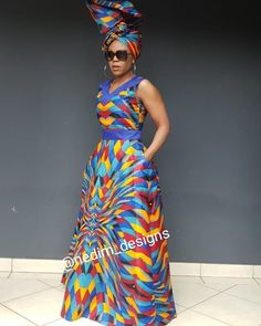 Telling African Story Through African Print 👗 African Wear Dresses, African Wedding Dress, African Attire, African Print Dress Designs, African Print Fashion, African Design, African Traditional Dresses, Dressy Outfits, Kitenge
