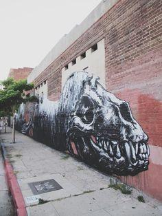roa's street art in downtown Los Angeles https://www.facebook.com/alex.insouratselou