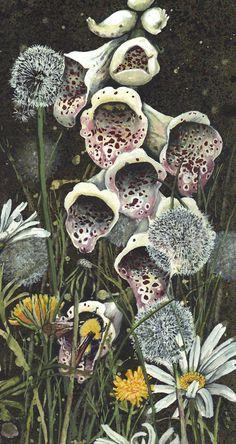 The Fey Foxglove By Maggie Vandewalle - Prints