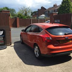 2012 Ford Focus in today for 5% Carbon limo tints to the rear.