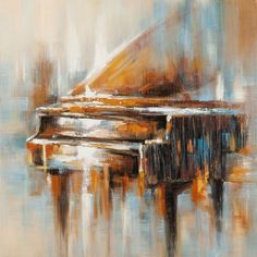 schilderij piano 100x100 Music Painting, Watercolor Paintings, Advanced Higher Art, Piano Art, Mini Canvas Art, Pastel Art, Acrylic Art, Pictures To Draw, Painting Inspiration