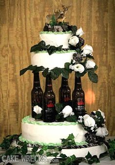 I want to have this as a fake wedding cake just to see the look on all the guests' faces. Then the real cake would be revealed.  :)