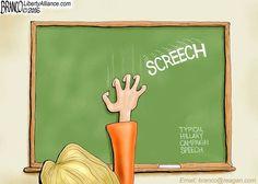SCREECH SPEECH | Jul/21/16 Cartoon by A.F.Branco -