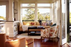 Beautiful and Stylish Sunroom Interior Design of The Peterson House by Ken Fulk, San Francisco
