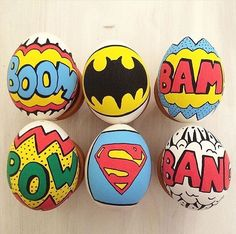 Comics painted rocks