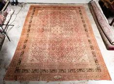"Hand Woven Tabriz Rug or Carpet, 10' 10"" x 14' 3"""