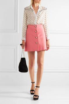 Miu Miu   Embellished cady mini skirt   NET-A-PORTER.COM