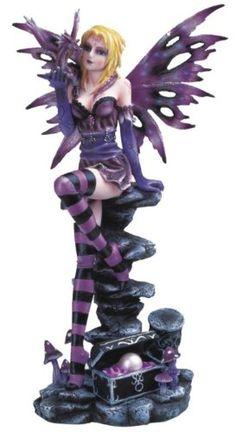 Purple Fairy With Baby Dragon Collectible Figurine Decoration Statue GSC Motorsports http://www.amazon.com/dp/B0052GKFZM/ref=cm_sw_r_pi_dp_4eChwb0KQ1018