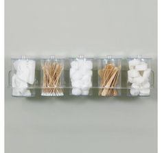 Clinton Acrylic Wall Mount Jar Rack