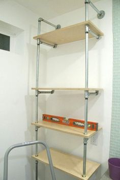 How To Build An Ace Hotel-Inspired Plumbing Pipe Shelf
