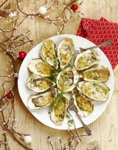 Hot crisp oysters with herbs - Healthy Food Mom Healthy Snacks, Healthy Recipes, French Food, Avocado Egg, Oysters, Gourmet Recipes, Food Print, Entrees, Zucchini
