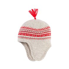 Wool blend knit Fine knit Warm item Perfect to protect from the cold Earflaps Fancy bobble Intarsia patterns Sizes: T1 = Head 41 cm size 1 month T2 = Head 43 cm (3 months) T3 = Head 45 cm (6 months) T4 = Head 47 cm (size 12 months) - $ 25.90