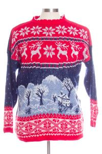 Multicolor Ugly Christmas Pullover 29360