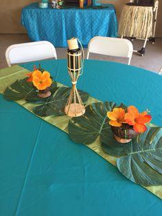 Hawaiian luau centerpiece