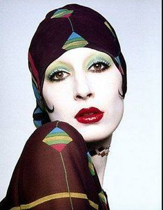 Anjelica Huston for Walter Albini, photgraphed by Gian Paolo Barbieri in 1973