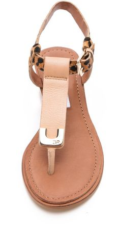 Diane Von Furstenberg Wedge Sandals in Beige (nude) | Lyst