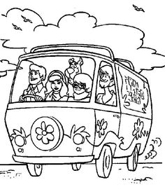 Car Scooby Doo Coloring Page