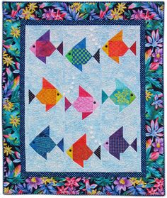fish baby quilt patterns | Where are you swimming, little fishies?)