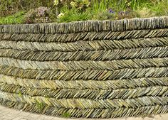 Garden wall, Mortehoe, Devon, England - photo by Charles Cuthbert (sandlings), via Flickr