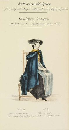 Lady Llanover's Monmouthshire costumes (No. 8), 1835