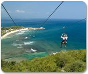 Zipline over the Ocean, Labadee, Haiti. Exclusively through Royal Caribbean Cruise Lines.--first stop on our cruise