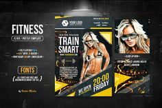 Fitness - Flyer/Poster by VectorMedia on @creativemarket