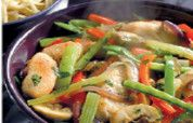 Stir-fried Chicken with Fresh Ginger Fresh Ginger, Fried Chicken, Stir Fry, Poultry, Green Beans, Fries, Easy Meals, Tasty, Meat