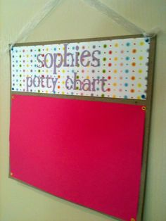 Potty Chart- use pompoms with velcro to stick to felt instead of stickers