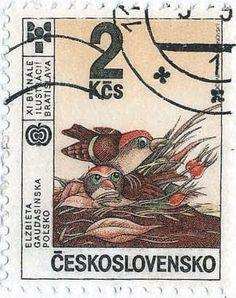 nest bird stamps 100 birds 100 days