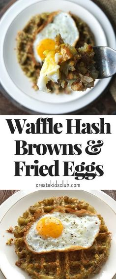 Waffle hash browns make the perfect addition to dinner. Serve as a side dish, or top with eggs or chicken for a hearty dinner meal. Easy to make, delicious to eat. Savory Breakfast, Breakfast Time, Healthy Breakfast Recipes, Healthy Chicken Recipes, Brunch Recipes, Healthy Snacks, Dinner Recipes, Egg Recipes, Breakfast Ideas