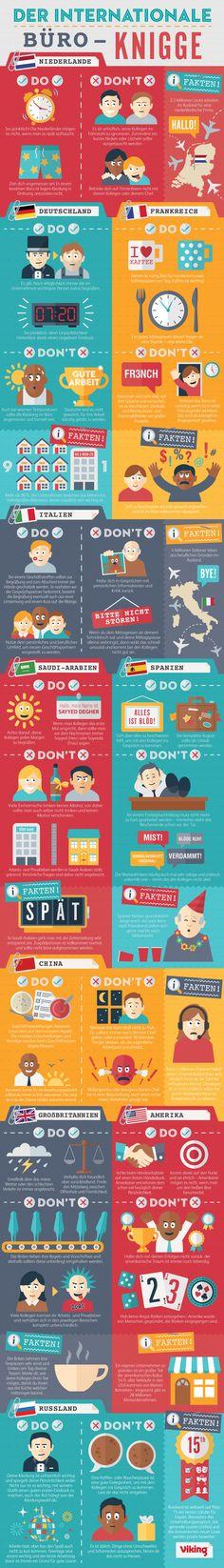 Büro Tipps (nicht nur) für Mamas: Internationaler Büro-Knigge