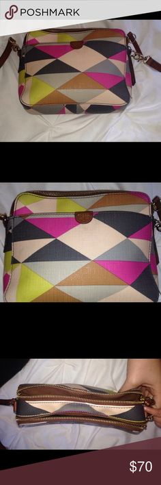 Fossil purse Multi color, great condition, smoke free, pet free home. Fossil Bags