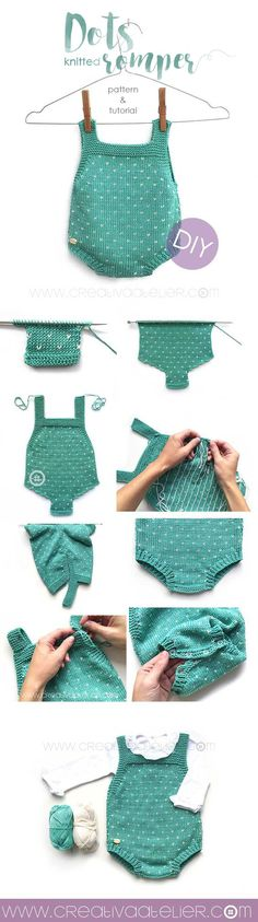 "Child Knitting Patterns Child knitted cap ""Topitos"" - Sample and tutorial DIY two needles Baby Knitting Patterns Baby Knitting Patterns, Knitting For Kids, Baby Patterns, Clothes Patterns, Stitch Patterns, Sewing Baby Clothes, Crochet Clothes, Romper Tutorial, Diy Tutorial"