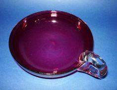 Fine Antique Cranberry Glass Serving Dish c1890 (Sold)