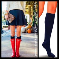 Navy Blue Tall Knee High Boot Socks  NEW WITH TAGS  2 Pairs Included Navy Blue Tall Knee High Boot Socks  * Super soft & comfortable fabric * Opaque Knit construction (not sheer), no texture, & ribbed cuffs * Lightweight & stretch-to-fit * One size fits most; Pull on & to the knee style  Fabric: 95% Polyester & 5% spandex; Machine wash Color: Navy Midnight Blue  No Trades ✅Bundle Discounts✅ Boutique Accessories Hosiery & Socks
