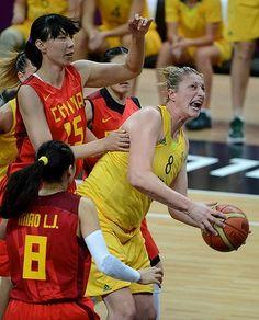 Australia's  Suzy Batkovic drives to the basket.