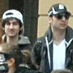 An image released on 19 April 2013 by the FBI showing two suspects in the Boston Marathon bombing. Photograph: Handout/FBI via Getty Images