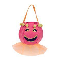 Pun'kin Head Girl Trick or Treat Bag - Emerson Sloan