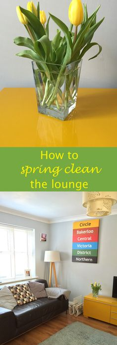 How to spring clean the lounge. Get our fab guide and natural cleaning product recipes for everything you need for a big spring clean of the living room. Includes really handy printable checklist to help you make sure all the tasks are taken care of. Homekeeping from Daisies & Pie