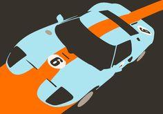 Orange Notch - Ford GT40 Race Car Art Print by Cale Funderburk | Society6