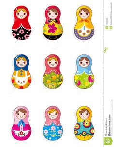Drawings of Russian Dolls images