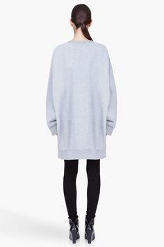 maison martin margiela oversize heather grey sweater