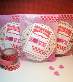 Valentine's Treat Bags by PaperandRibbons, via Flickr