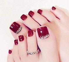 27 Adorable Easy Toe Nail Designs 2020 – Simple Toenail Art Designs : Page 2 of - Nails Simple Toe Nails, Pretty Toe Nails, Cute Toe Nails, Summer Toe Nails, Pretty Toes, Toe Nail Art, Nail Nail, Acrylic Nails, Coffin Nails