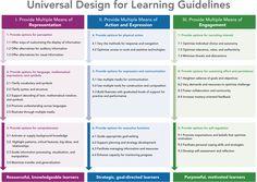 UDL Guidelines Graphic Organizer